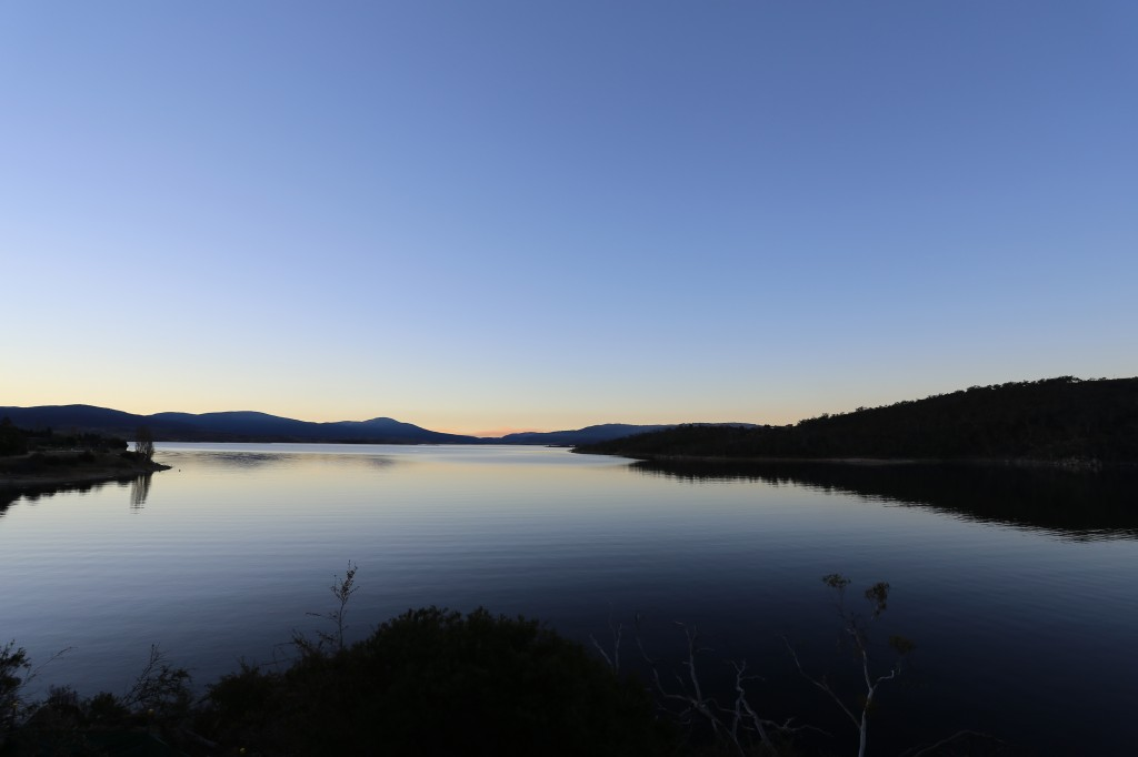 Sunset view looking North East over Lake Jindabyne